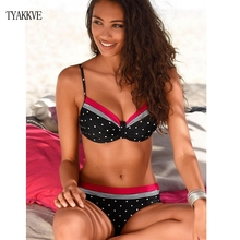 TYAKKVE 2019 Sexy New Bikini Polka Dot Women Swimwear Retro Push Up Swimsuit Bathing Suit Plus Size Tankini Biquini Famale XXL все цены