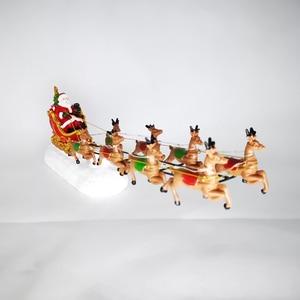 Image 4 - Winter Wonder Lane świąteczna wioska zestaw Santa Sleight z reniferem Light Up Tabletop Decor