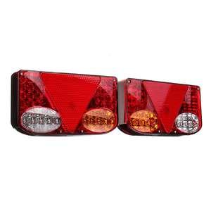 Image 1 - ضوء خلفي للسيارة LED ، مصباح الفرامل الخلفي ، إشارة الانعطاف للشاحنة ، مقطورة ، الشاحنة ، 12 فولت ، 2 قطعة