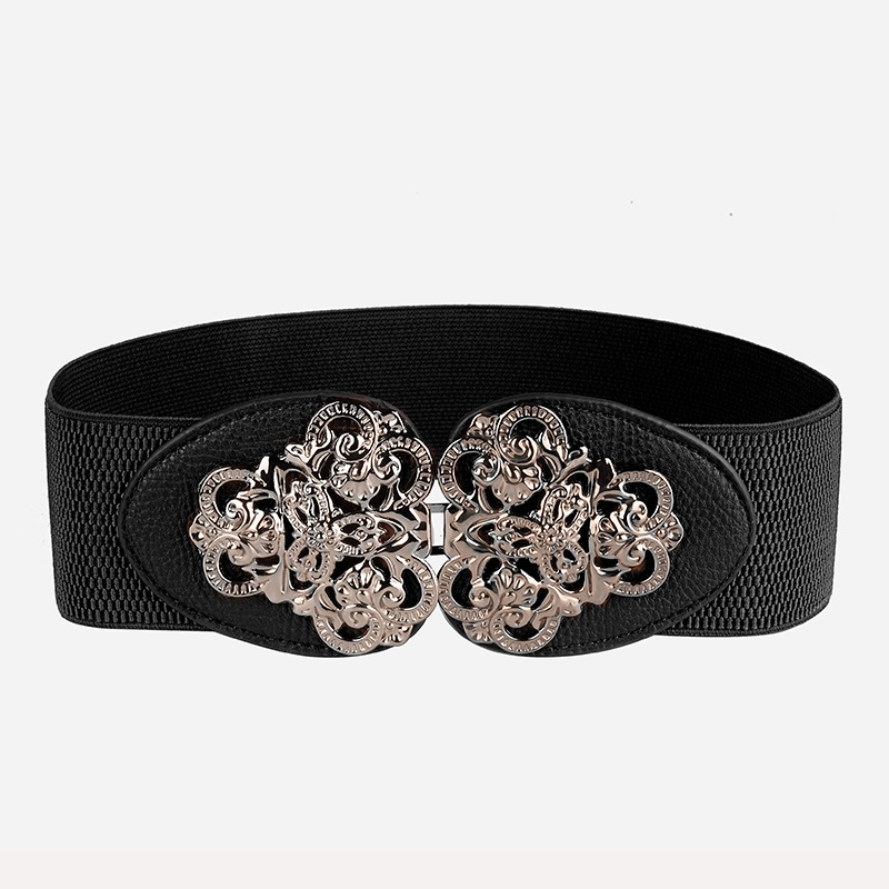 2019 New Fashion Bohemia Style Belt Wide Cummerbund Elastic Force Waist Female Women Accessories Kirsite Pin Buckle Wide Belt