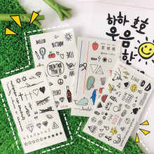 Cute Girl Heart Cartoon Design Tattoo Stickers Cartoon Funny Children Lady Hipster Stickers Lovely with Clear Patterns