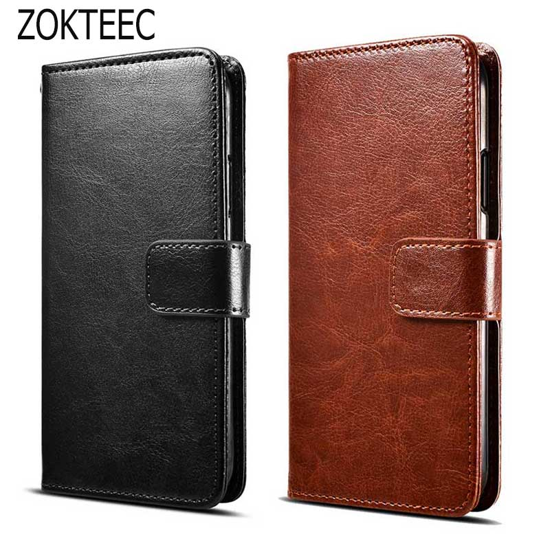 ZOKTEEC Luxury Retro Leather Wallet Flip Cover Case Mercury Case phone Coque Fundas For BQ BQ 4072 Strike Mini Wiko Sunny2 CAPA in Flip Cases from Cellphones Telecommunications