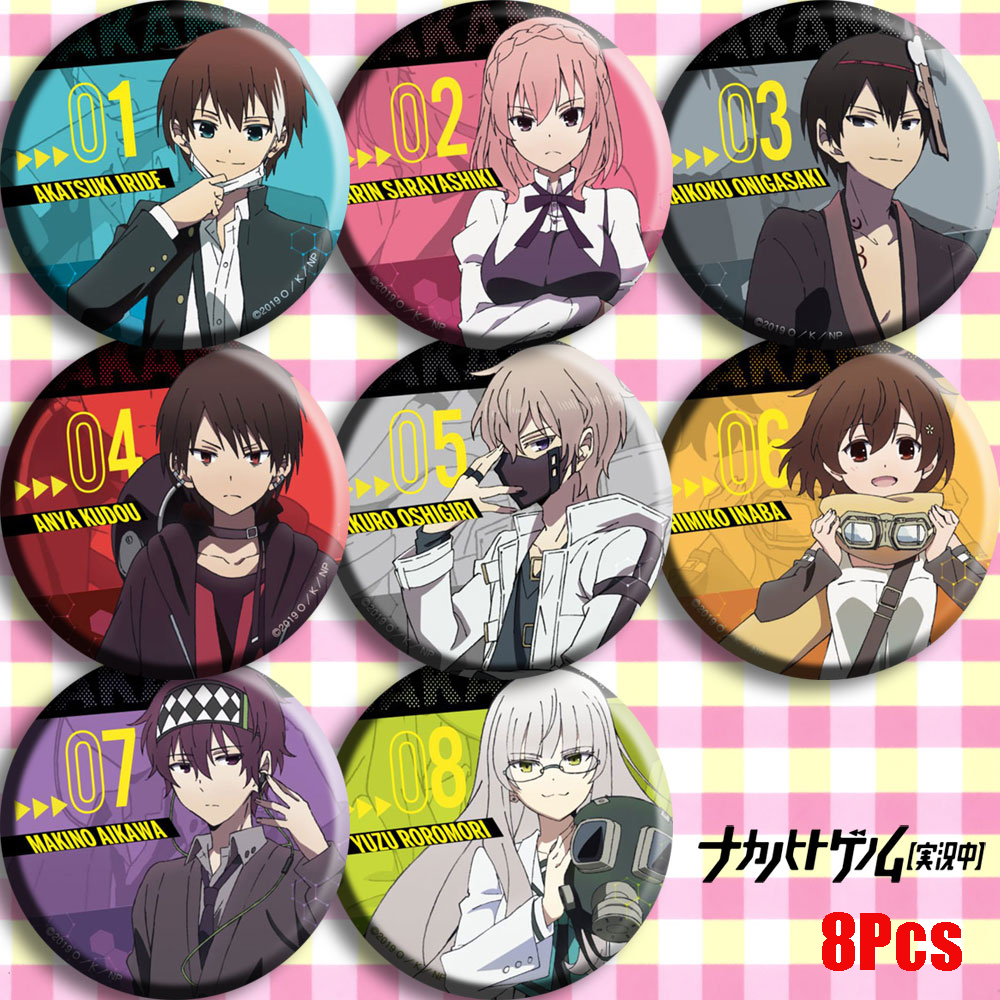 Anime Naka No Hito Genome [Jikkyouchuu] Cosplay Badge Cartoon Collect Backpack Bag Bedge Button Brooch Pin Bag Pendant