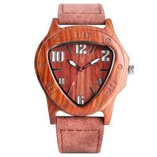Natural Wood Watch Men Quartz Watches Tr