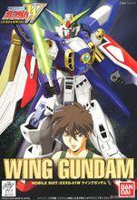 Bandai figura de Gundam de ala 1/144 con traje móvil, Kits de modelos de figuras de acción, modelos de plástico, Juguetes