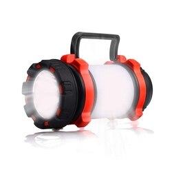 Top akumulatorowa lampa led Camping Light USB latarka możliwość przyciemniania reflektor światło robocze IPX4 wodoodporna 600 lm latarnia zasilanie awaryjne Su w Lampy gazonowe od Lampy i oświetlenie na