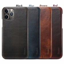 Luxo à moda retro cera de óleo couro do telefone móvel de volta escudo para iphone 7 8 plus x xr xs max 11 11pro max escudo do telefone móvel