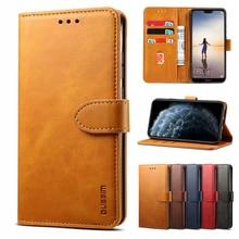 Leather Case For Huawei P20 P30 P40 Pro Lite P Smart 2019 2020 2021 P Smart  Z Pro Nova 5T 3i Y9S Wallet Card Flip Phone Cover
