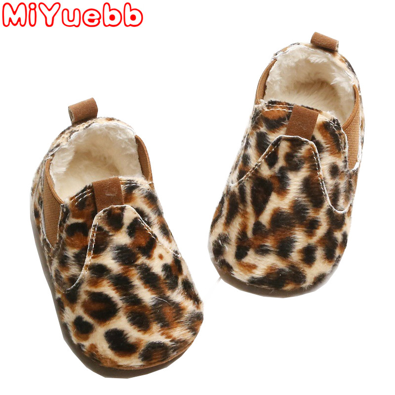 2019 Brand New Newborn Baby Boy Girl Shoes Leopard Print Baby Girls Soft Shoes Boys First Pu Leather  Toddler Casual Shoes