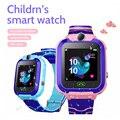 Детские Смарт-часы для телефона  водонепроницаемые  с функцией SOS  Sim-картой  Детские Смарт-часы  GPS  сенсорный силикон  для мальчиков и девоче...