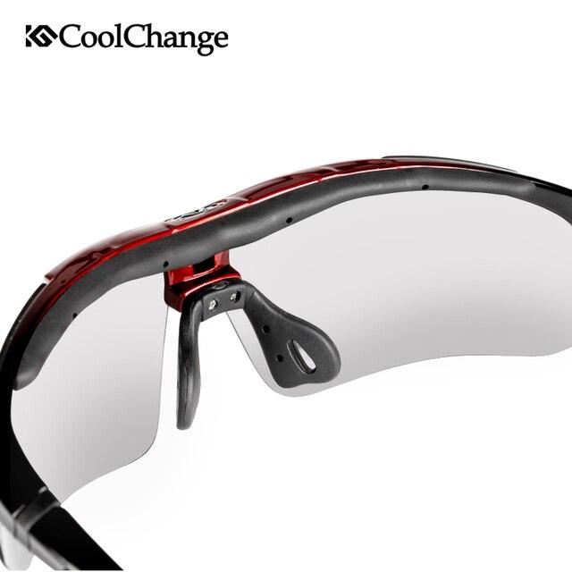 Coolchange polarizado profissional óculos de ciclismo óculos de bicicleta esportes ao ar livre óculos de sol com 5 lente quadro miopia 3