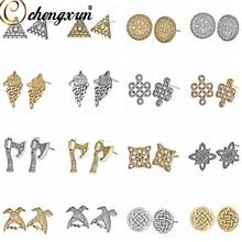 CHENGXUN Men Earrings Viking Slavic Amulet Unisex Runes Retro Jewelry Nordic Stud Gift Boys