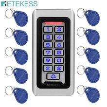 Retekess T-AC03 Rfid Deur Toegangscontrole Systeem IP68 Waterdichte Metalen Toetsenbord Proximity Card Standalone Met 2000 Gebruikers