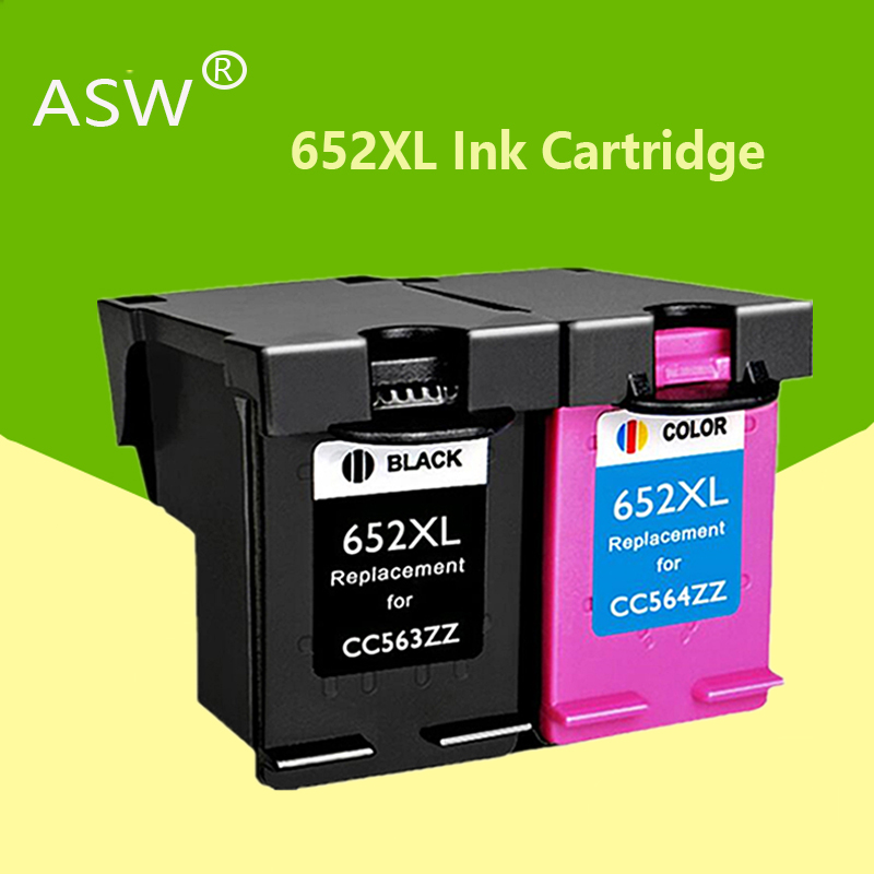 ASW 652XL <font><b>652</b></font> <font><b>ink</b></font> <font><b>cartridge</b></font> replacement for <font><b>HP</b></font> <font><b>652</b></font> XL for <font><b>HP</b></font> Deskjet 1115 1118 2135 2136 2138 3635 3636 3835 4535 printers image