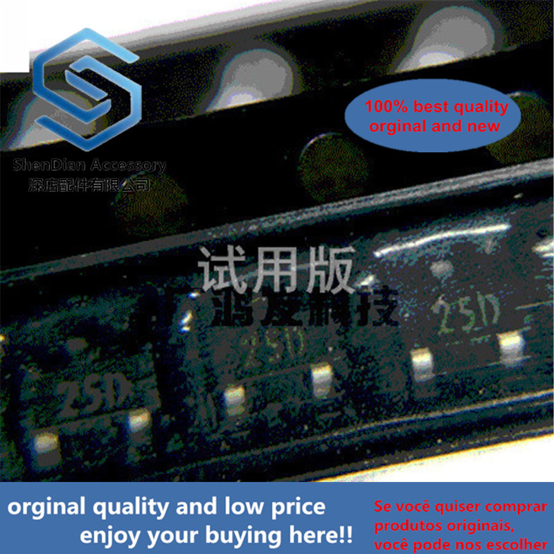 10pcs 100% Orginal New SR25D 2.5V Voltage Reference IC Silkscreen 25D SOT-23 SR25ADTA / DTA