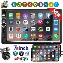 Автомагнитола 2 Din с сенсорным экраном 7 дюймов, мультимедийный стерео-проигрыватель с поддержкой Bluetooth, FM-радио, Mirror Link, mp5-проигрыватель