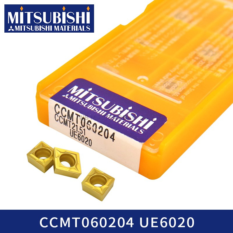 Mitsubishi CCMT060204 UE6020 Carbide Inserts Cnc Lathe Cutter Internal Turning Tool Hss S12m-sclcr06 Steel CCMT0602 CCMT060208