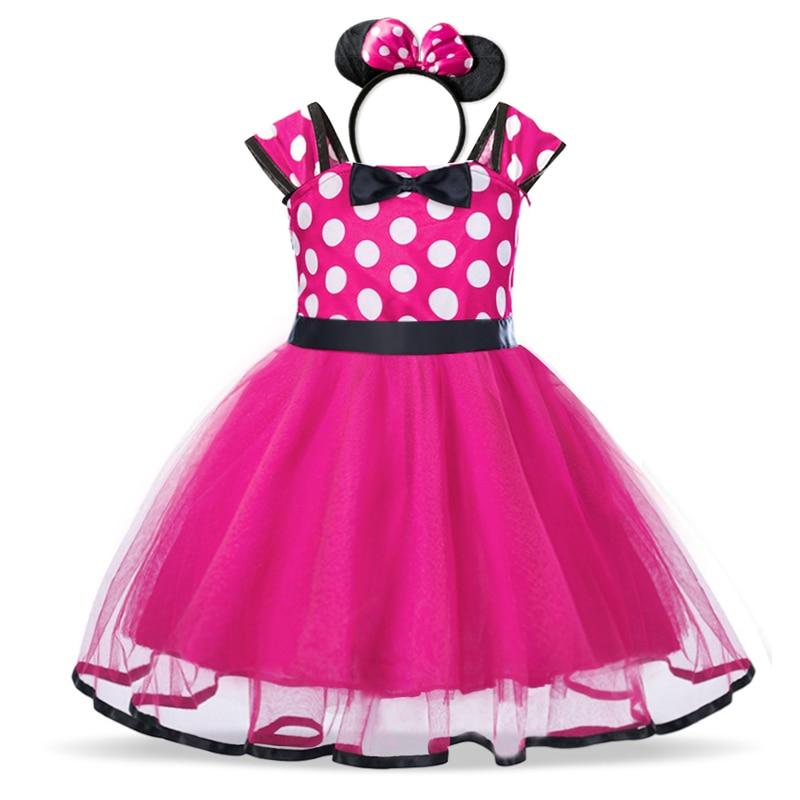 Baby Girls Birthday Party Tutu Princess Costume Toddler Kids Polka Dot Dress with Headband Outfits Children Vestidos 5