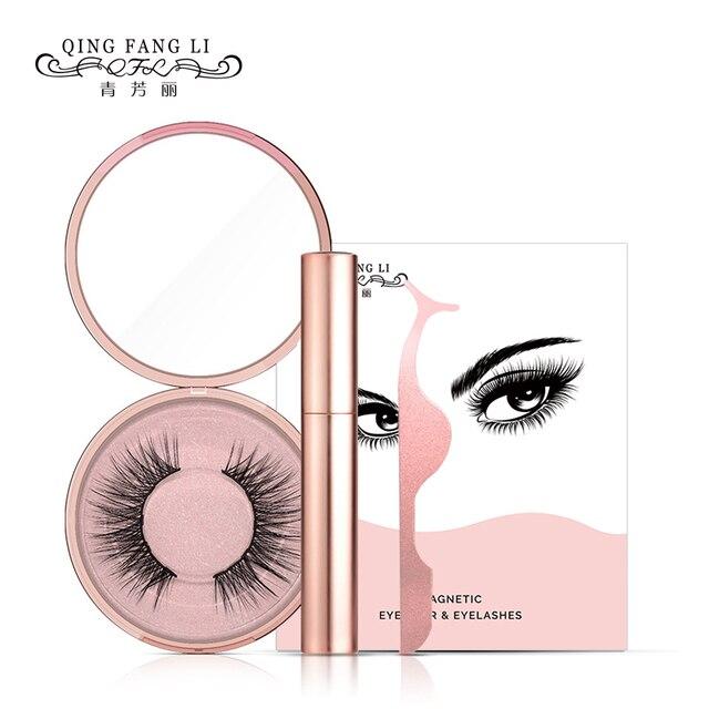 Dropship Hot Magnetic Liquid Eyeliner & Magnetic False Eyelashes & Tweezer Set Waterproof Long Lasting Eyeliner False Eyelashes 1