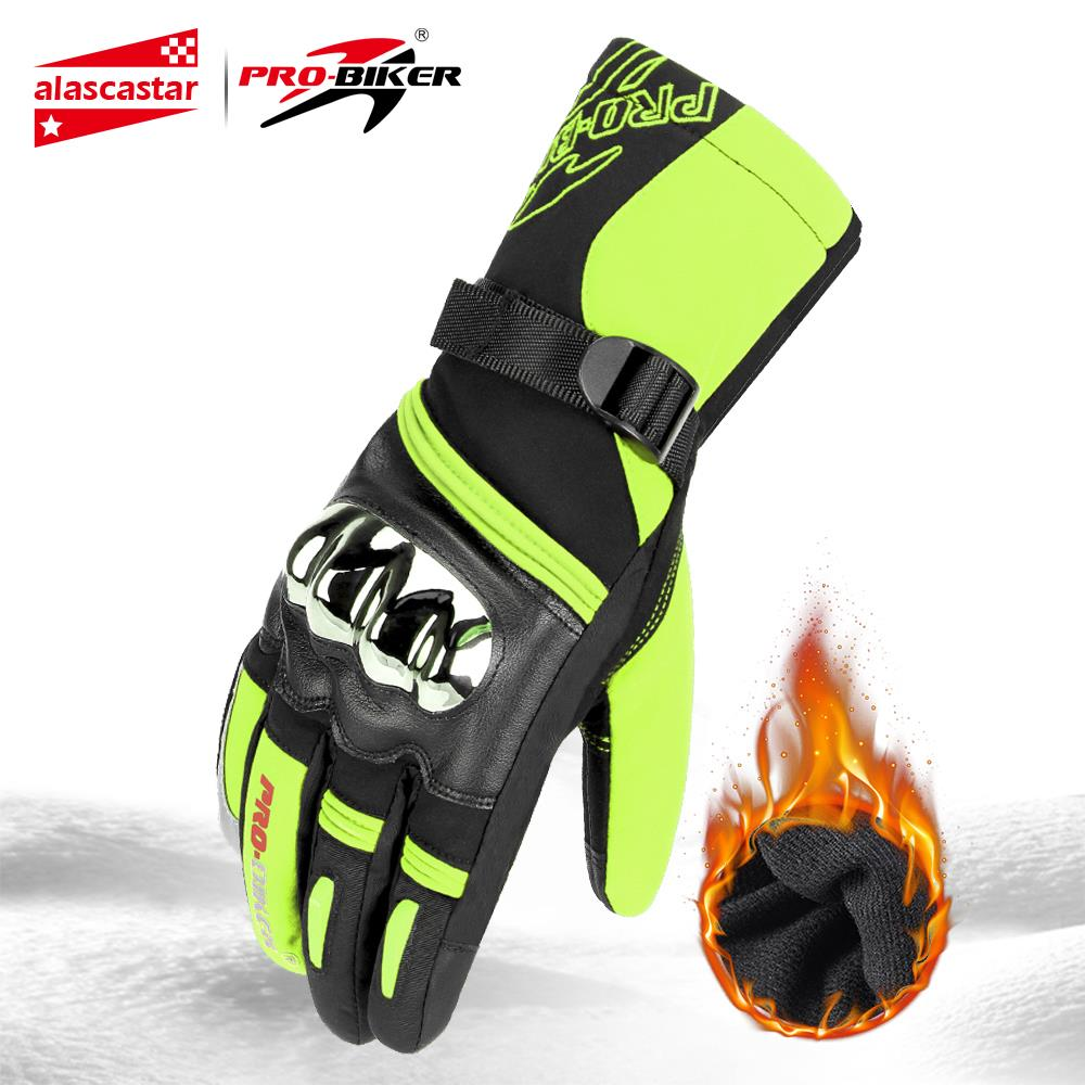 Motorcycle Gloves Motos Gloves Winter Thermal Fleece Lined Winter Waterproof Touch Screen Non-slip Motorbike Riding Gloves #