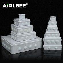 Оптовая продажа, водонепроницаемая распределительная коробка из АБС пластика IP65, наружная электрическая Соединительная коробка «сделай сам», коробка для ответвления кабеля, 200x100x70 мм