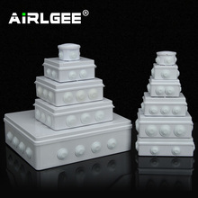 도매 ABS 플라스틱 IP65 방수 접합 상자 DIY 야외 전기 연결 상자 케이블 지점 상자 200x100x70mm