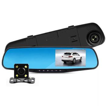 4.3 Inch 1080P Car Dvr With Dual Lens Camera Fhd Car Rearview Mirror Car Driving Video Recorder Camera With Car Reverse Image image