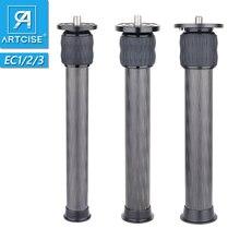 ARTCISE 10 Layers Carbon Fiber Center Column Extender 2 Section Tube Extension for Tripod Monopod 25.5mm/29mm CNC Anodized