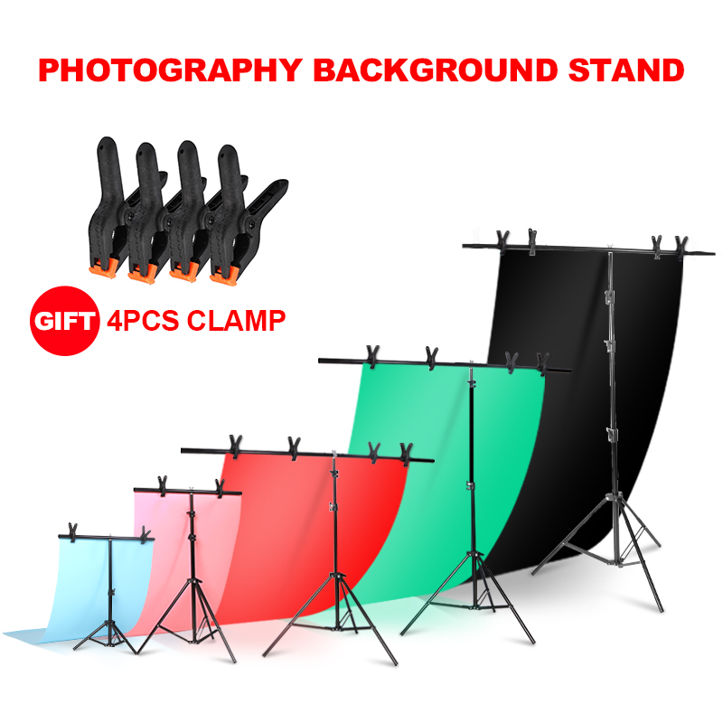 Background Frame Photography Backdrop T-shaped Background Support Stand System Metal Backgrounds For Photo Studio Multiple Size