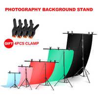 Hintergrund Rahmen Fotografie Hintergrund T-förmigen Hintergrund Unterstützung Stehen System Metall hintergründe für foto studio Mehrere größe