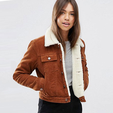 Women Winter Jas Fat Bont Led Jassen Parka Fashion Faux Fur Voering Corduroy Bomber Nice runner 2019