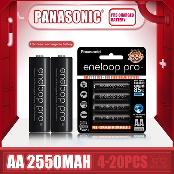 Fabrycznie nowe Panasonic Eneloop 2550mAh AA 1 2V NI-MH akumulatory do zabawek elektrycznych latarka aparat wstępnie naładowany akumulator tanie i dobre opinie BK-3HCCA Tylko baterie CN (pochodzenie) 4-20PCS 14 5*50 5mm Digital camera flash electric toothbrush
