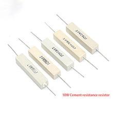 10pcs 10W 5% Cimento Resistor Resistência Poder 0.1R 0.22R 0.33R 0.47R 0.5R 1R 1.2R 1 1.5R 0.1 0.22 0.33 0.47 0.5 1.2 1.5 ohm