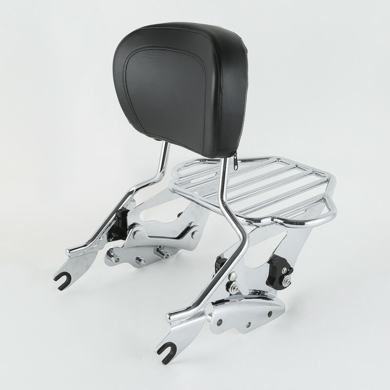 Motocicleta desmontable respaldo Sissy Bar equipaje acoplamiento Kit para Harley gira Road King Electra calle deslizamiento FLHR 09-13