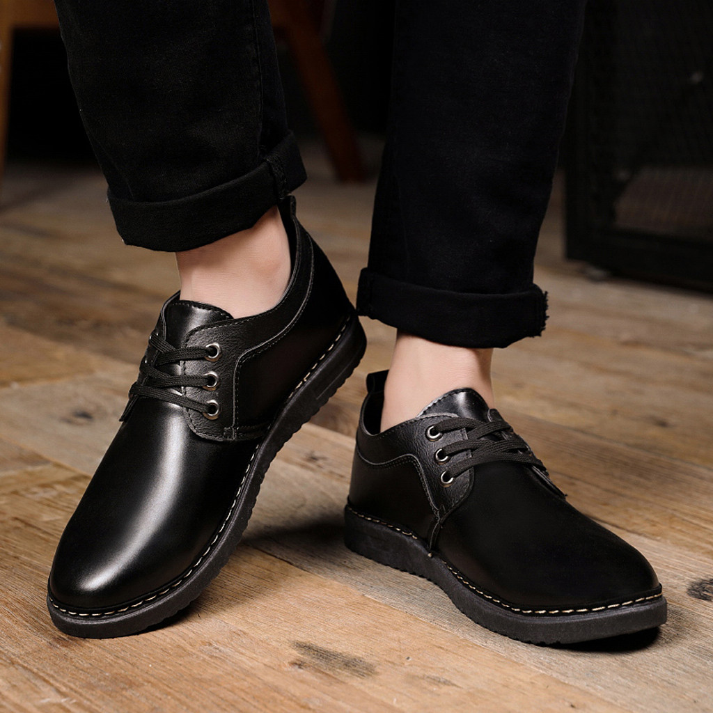 Luxury Brand Men Leather Formal Business Shoes Male Office Work Flat Shoes Oxford Breathable Party Wedding Anniversary Shoes 9.4