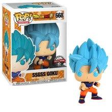 Funko POP-figuras de acción de Dragon Ball SSGSS, GOKU, Anime, figura super azul, muñecos de vinilo, juguetes coleccionables con caja
