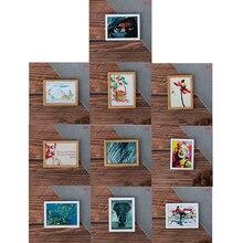 ¡Novedad de 1/12! Cuadro Mural en miniatura de resina con marco Vintage para casa de muñecas, sala de estar, dormitorio, muebles, juguetes de decoración