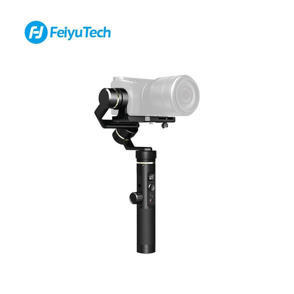 Écran OLED à cardan à 3 axes stabilisé FeiyuTech G6 Plus suivi de la mise au point Zoom avant et arrière WiFi + APP BT double connexion