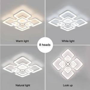 Image 3 - IRALAN נוריות נברשת קבועה בבית מודרני ברק לסלון חדר שינה kitchern בית נברשת לבן תאורת דגם 0126