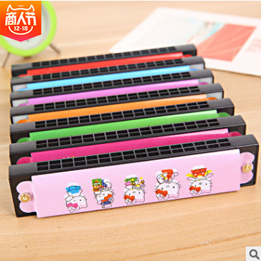 Children Small Harmonica Creative Music Young STUDENT'S Kindergarten Playing Gifts Beginner Teacher ≥ 14 Years Old 16 Hole 14