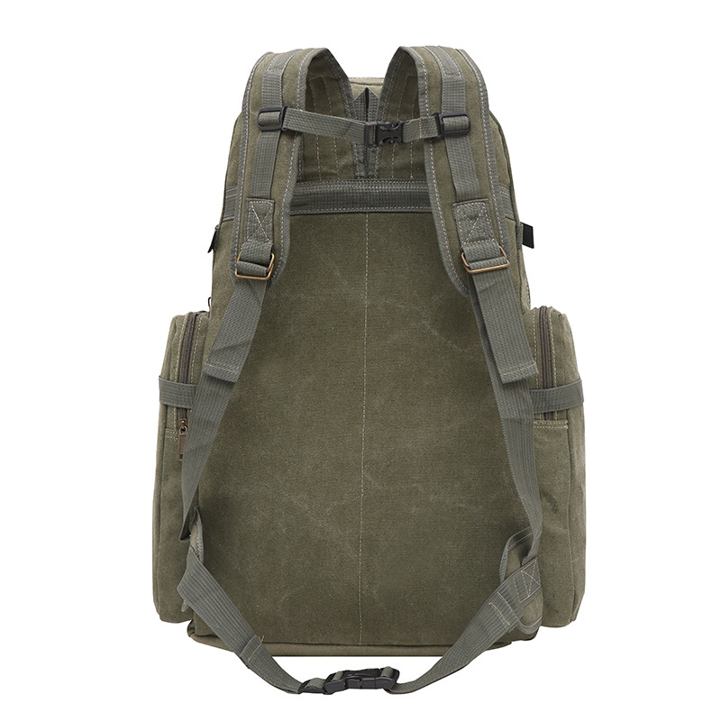 Korean-style Fashion Canvas Large Capacity Backpack Men Multi-functional Outdoor Travel Mountaineering Bag Sports Ultra Large Tr