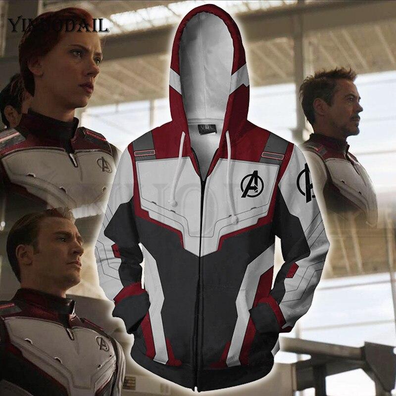 Avengers Endgame Marvel Off White 3D Print Mens Hoodies Hip Hop Hoodie Sweatshirt Hoody Streetwear Poleron Avenger End Game