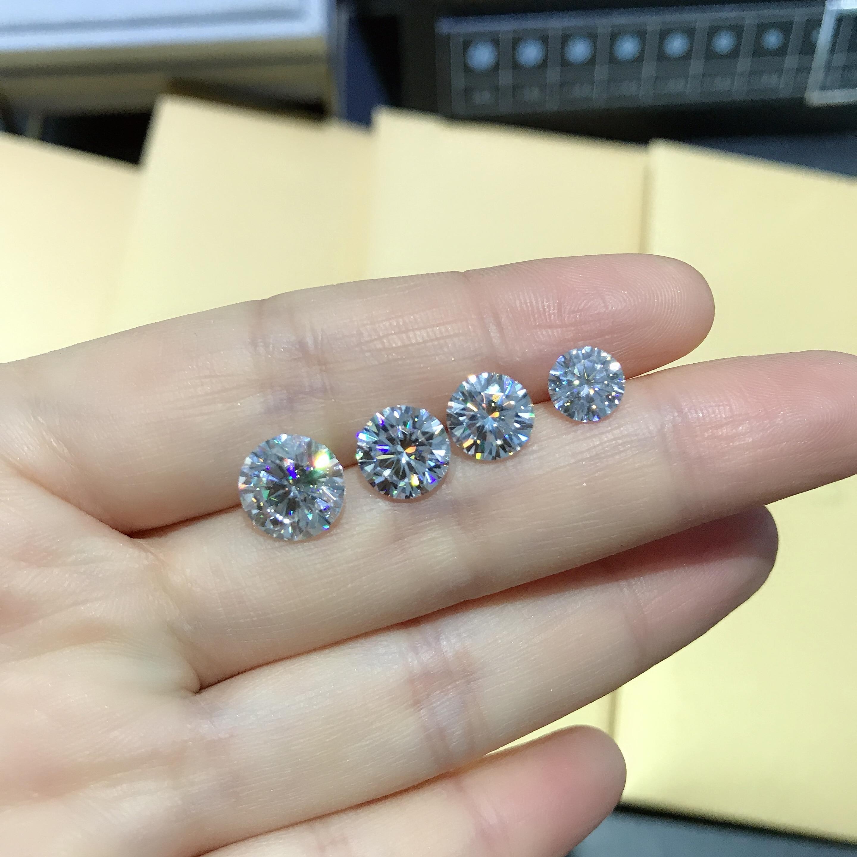 Colgantes de anillo personalizado para diamante desnudo de poesía de la tienda judía redonda 1.00ct D VVS 6,5mm Moissanite Nuevo diamante pintura carisma Ángel punto de cruz 5D completo redondo bordado de diamante cristal taladro Rhinestone mosaico niños regalo
