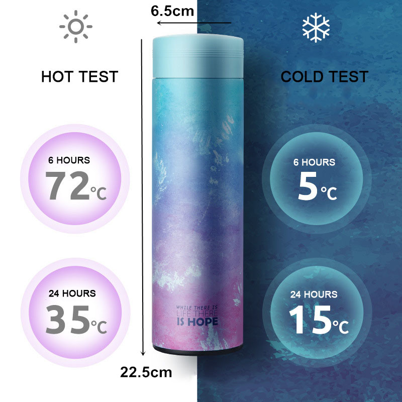 ZOOOBE 500ML Thermos Bottle 304 Stainless Steel Vacuum Flask Insulated with Infuser Thermos for Tea Thermocup ZOOOBE 500ML Thermos Bottle 304 Stainless Steel Vacuum Flask Insulated with Infuser Thermos for Tea Thermocup Travel coffee mug