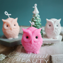 Silicone Mold Wax-Mould Plaster Handmade Owl for Candle-Making DIY