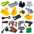 Творчество большой Размеры строительные блоки механические детали крюк лестницы Совместимость кирпичи собрать игрушки для детей