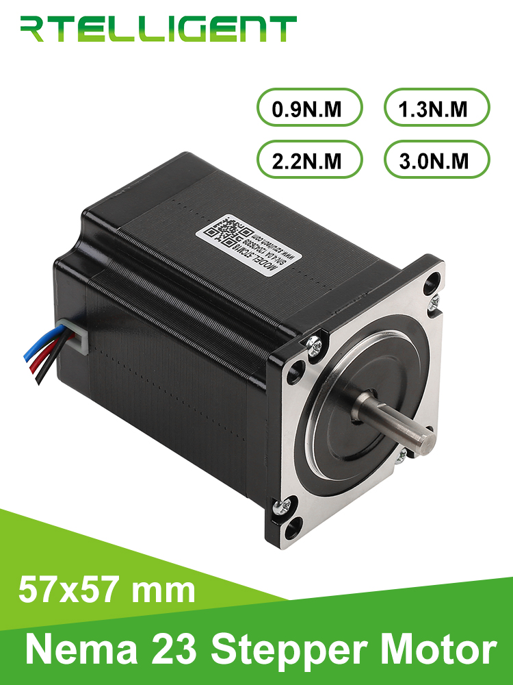 Rtelligent Motor Milling-Machine Nema 23 57CM18 57mm 4-Lead for CNC Engraving Flange