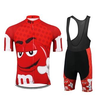 Equipo nuevo M de manga corta para Ciclismo, jersey de babero, conjunto...