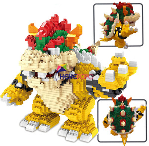 Image 1 - 2200pcs 21822 Diamond Blocks Cartoon Action Figure Koopa King Anime Micro DIY Building Toys for Kids Gifts Brinquedos Children