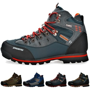 Men's Skid Resistant Hiking Shoes Fashion Waterproof Mountain Boots Climbing Shoes Plus Size Boots Trekking Running Shoes